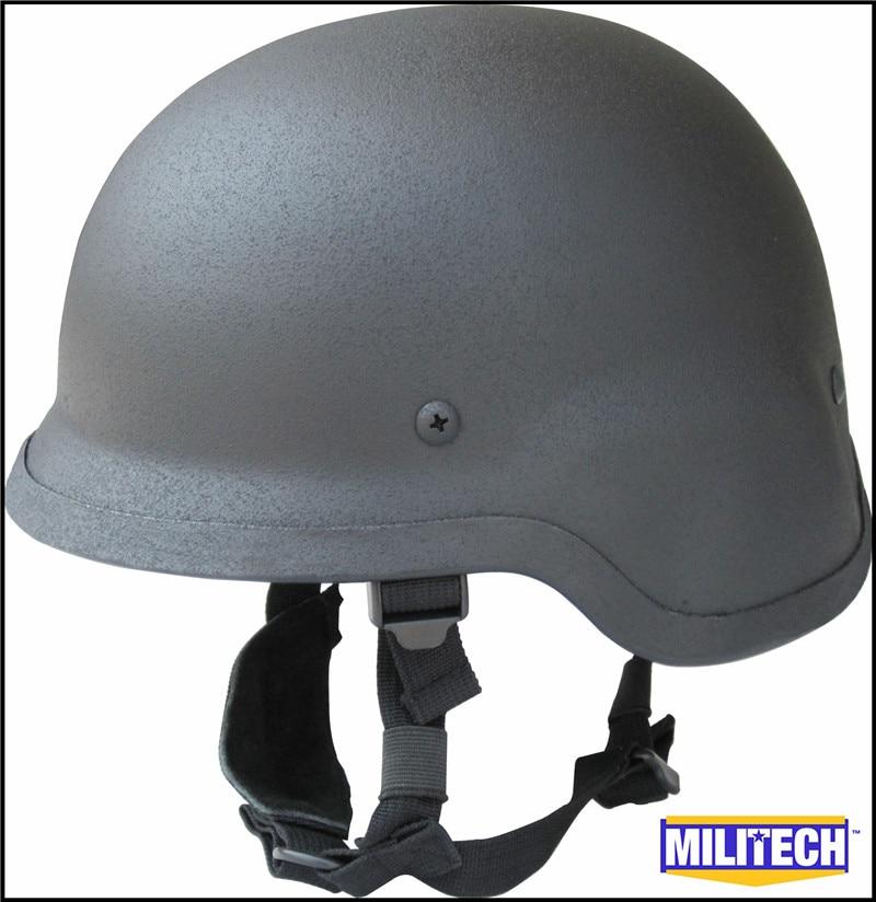 MILITECH NIJ IIIA 3A Siyah M88 Çelik Kurşun Geçirmez Kask Çelik - Güvenlik ve Koruma - Fotoğraf 5