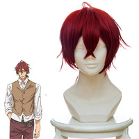 Violet Evergarden red modelling Cosplay Wig for girls mens adults costume Claudia Hawkins. Kyoto Animation new anime
