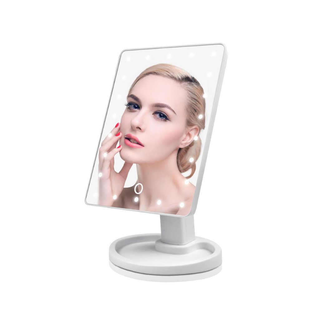 Голливудское зеркало для макияжа, светодиодный сенсорный экран, затемняющий косметический свет, Портативный Женский макияж, Косметическая Красота, регулируемая зеркальная лампа