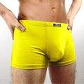 2017 nuevos hombres's underwear boxer shorts fibra de bambú pantalones de color sólido transpirable antibacterial pantalones para hombres de la venta caliente