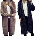 Fashion Sweater Solid Long Sleeve Knitted Cardigan Sweaters Women Ladies Loose Outwear Coat Jacket Tops 88  H9