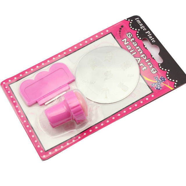 MAKARTT  3 in 1 DIY Nail Art Stamping Art Set Stamping Nail Art Kit Nail Stamps + Scrapers+Image Plate Wholesales C3121XXX