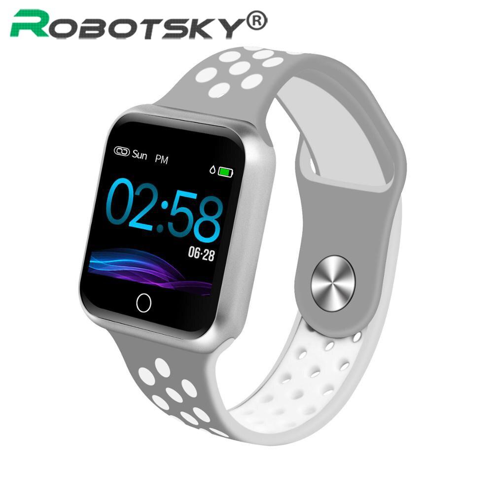 Reloj inteligente S226 Monitor de ritmo cardíaco presión arterial resistente al agua de 15 días para Android ios mujeres hombres deporte reloj inteligente