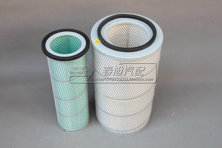 Воздушный фильтр для грузовика для EQ153 Dongfeng Cummins XIAMEN JINLONG K2342 Длина: 420 мм Высота: 230 мм