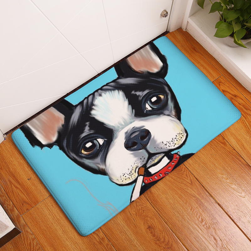 New Anti Slip Carpets Pet Dog Print Mats Bathroom Floor