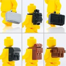 Military WW2 Weapon Blocks Backpack School bag briefcase Gun Parts Building Blocks 2019 City Figure Bricks SWAT Accessories Toys