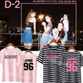 ALLKPOPER Kpop BLACKPINK SQUARE ONE Stripe T-shirt IN YOUR AREA Tshirt Unisex Lisa Cotton