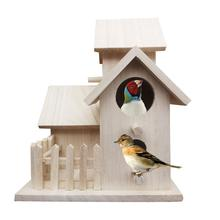 Bird Cage DIY Nest Villa House Feeding Outdoor Hanging Breeding Home Decoration Funny Parrot Toy Quick Delivery