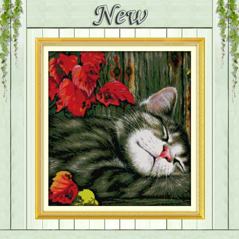 The Dog Bites Its Tail Decor Paintings Counted Print On Canvas Dmc 14ct 11ct Chinese Cross Stitch Needlework Sets Embroider Kits Cross-stitch Home & Garden