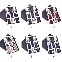 Fashion Men S Suspenders Leather Braces Mens Trouser 6 Clips Adult Suspensorio Tirantes Hombre Bretelles