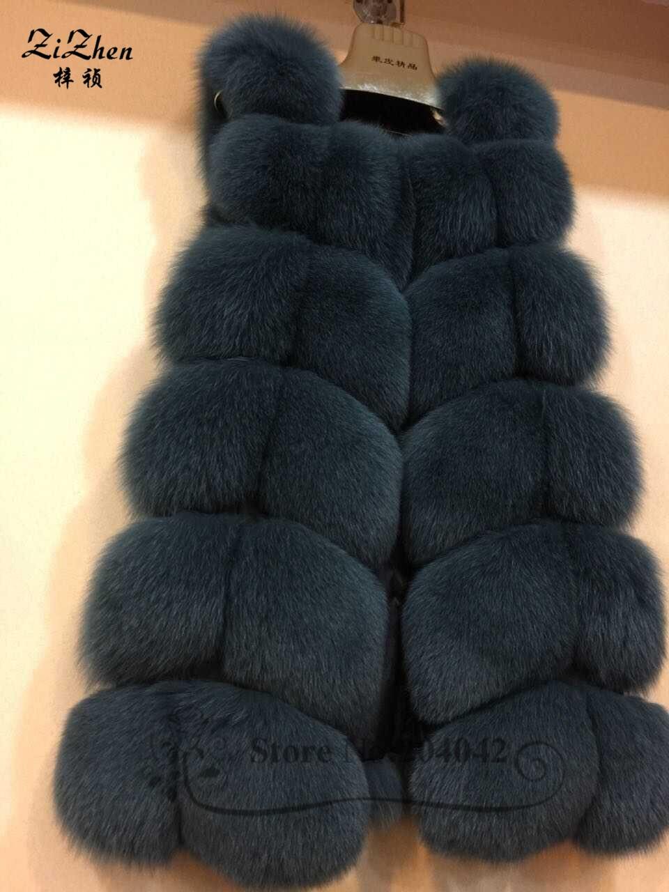 Zizhen winter echte fuchspelz weste frauen volle fell weste warme - Damenbekleidung - Foto 4