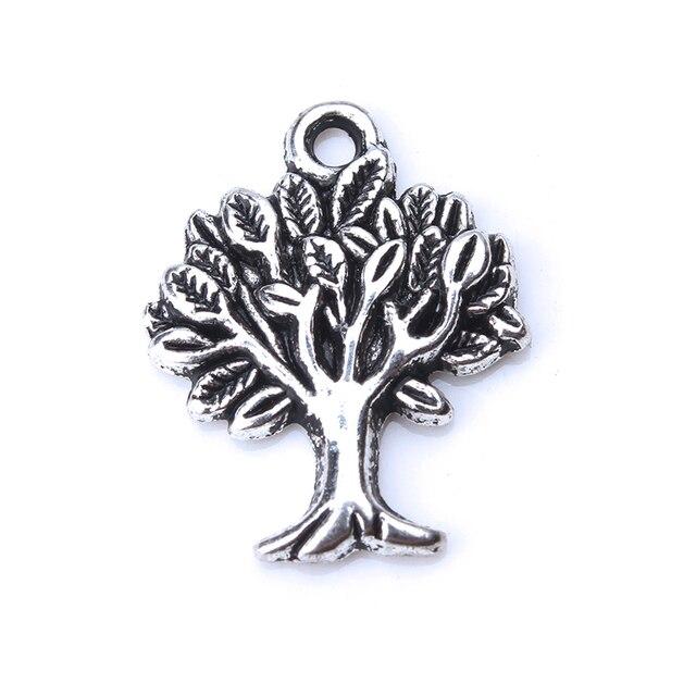 10 unids/lote aleación árbol vida dijes Metal colgante dijes para collar pulsera joyería Accesorios artesanías colgante
