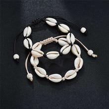 Boho Personalized Charm Bracelet Natural Seashell Handmade Bracelets For Women Men Jewelry Beaded Strand Beach Accessories Gift