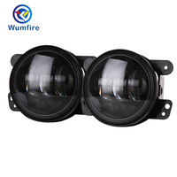 2pcs Pair 30w Led 4 Inch White Amber Round Fog Lights Lens Projector 4 Fog Lamp