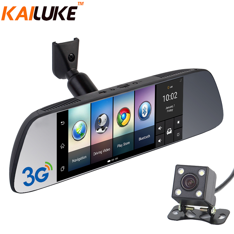 KAILUKE 7 3G Special Mirror Rearview Car DVR Car Camera Dual DVRs Android 5 0 GPS