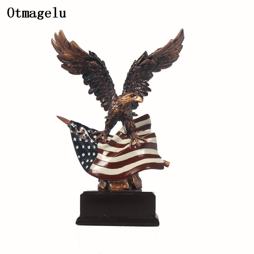 Aliexpress.com : Buy Vintage Resin USA Eagle Figurines