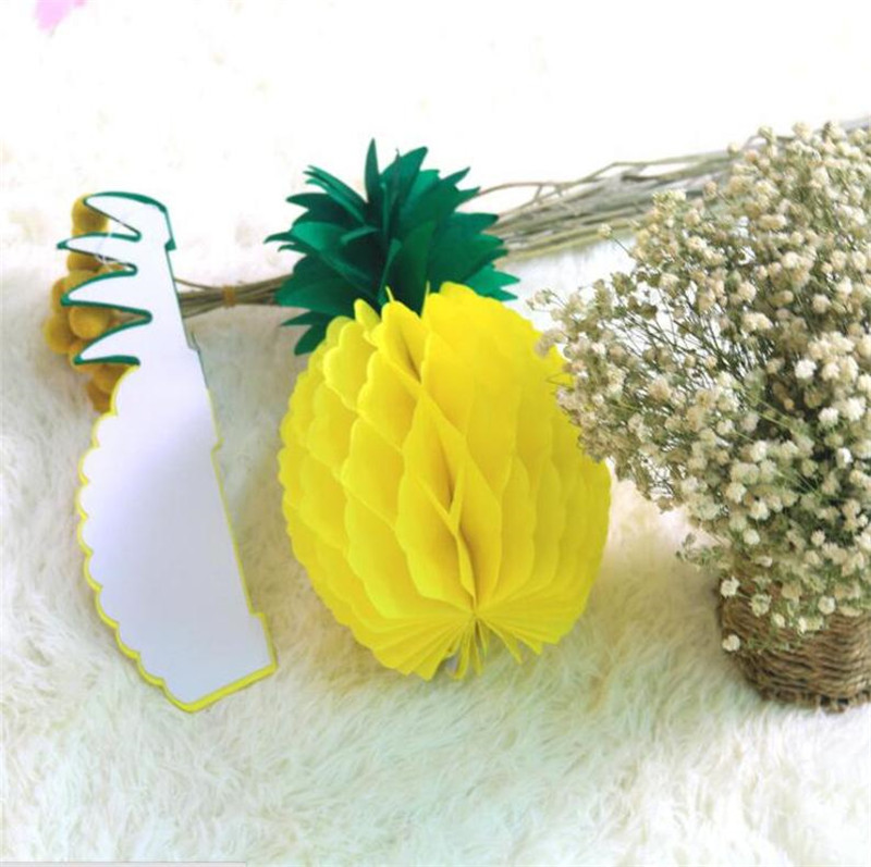 20cm 30cm Tissue Pineapple Honeycomb Paper Balls Hawaiian Party Decorations Wedding Bridal Baby Shower Party Favor Supplies in Party DIY Decorations from Home Garden