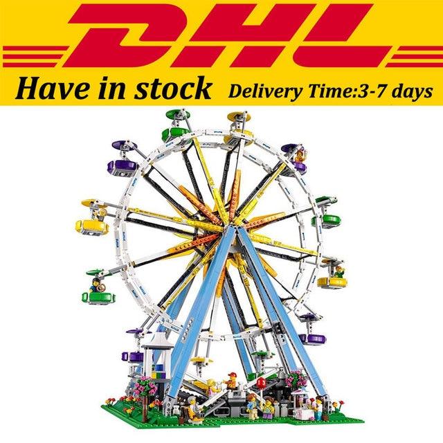 DHL Lepin 15012 Calle Creador Noria Kits de Edificio Modelo Conjunto De Juguete Bloques Compatible 10247 de Cumpleaños Juguetes