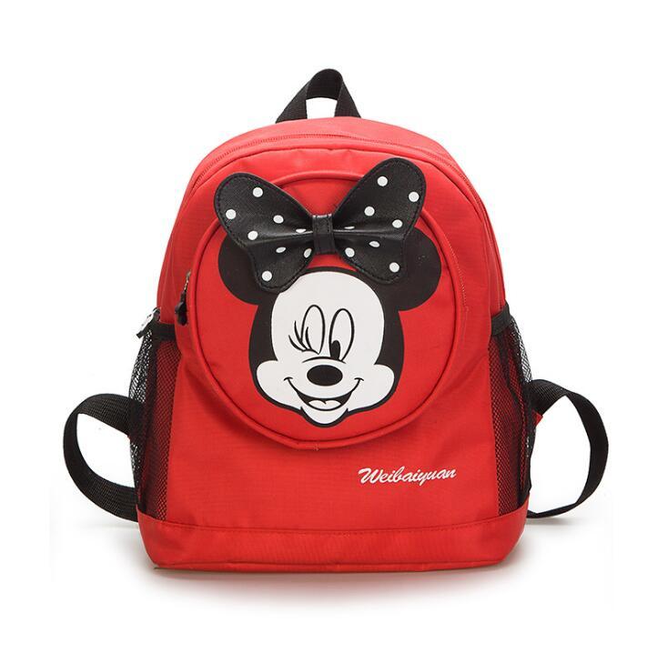 4ac3264d442 все цены на 2018 Mickey School Bag Minnie Kids Bag Children Backpack  Kindergarten Backpack kid
