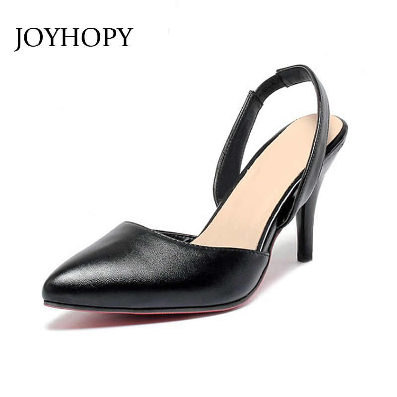 7b795273b2 2016 Summer Sandals Women Pointed Toe High Heels Pumps OL Style Platform  Thin Heels PU Leather Shoes Woman Plus Size 31- 43