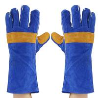 35 40cm Heavy Duty Welding Gloves Leather Cowhide Protect Welder Hands 2 Sizes Workplace Safety Gloves