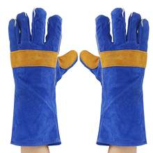 35/40cm Heavy Duty Welding Gloves Leather Cowhide Protect Welder Hands 2 Sizes  Workplace  Safety Gloves