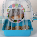 Creative Wood Plastic Plat Hamster Exercise Toy Mouse Rat Mice Cage Accessories Sports Running Spinner Wheel Pet Hamster Toys