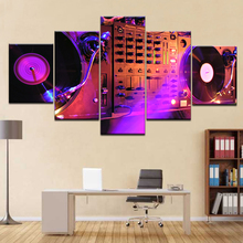 5Panel HD Printed DJ Night Club Of Mural Bar wall posters Print On Canvas Art Painting For home living room decoration цена 2017