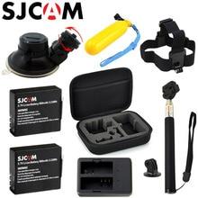 SJCAM SJ4000 Accessories Set Selfie Stick Monopod Battery Collecting Bag For SJ CAM SJ4000 WiFi SJ5000 M10 Action Camera