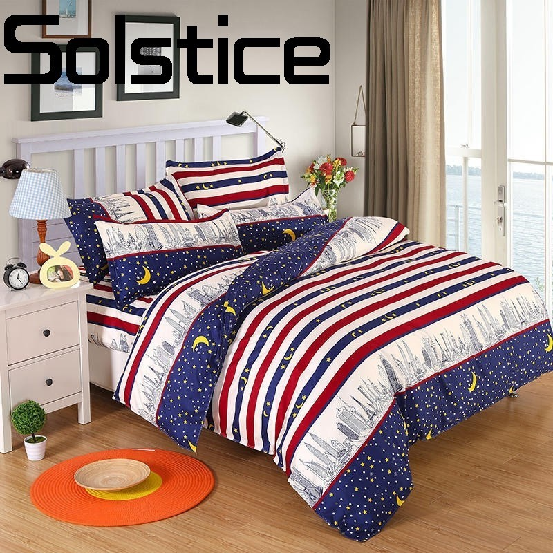 Solstice Home Textile Fashionable skin-friendly comfort Soft Aloe Cotton Sheet Quilt cover Pillowcase Bedding 3/4pcs