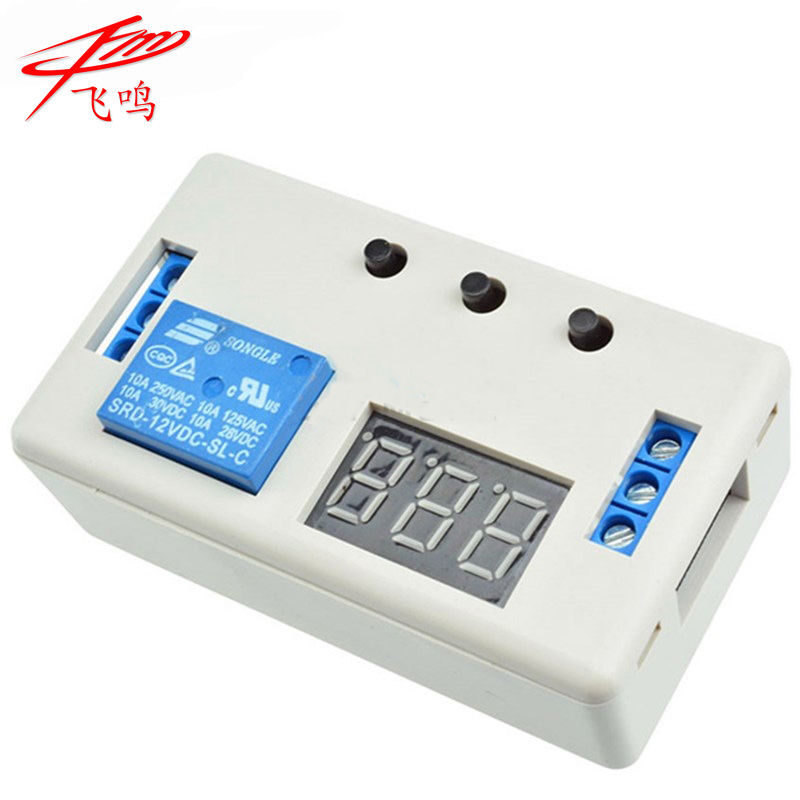 цена на Digital LED Display Time Delay Relay Module Board DC 12V Control Programmable Timer Switch Trigger Cycle Module With Case