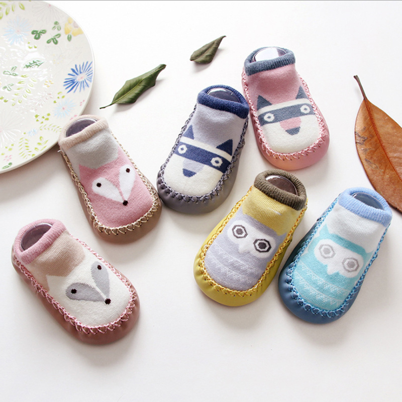 Baby Floor Socks Soft Sole Anti-slip Shoes Boots Cartoon Pattern Hosiery 1Pair
