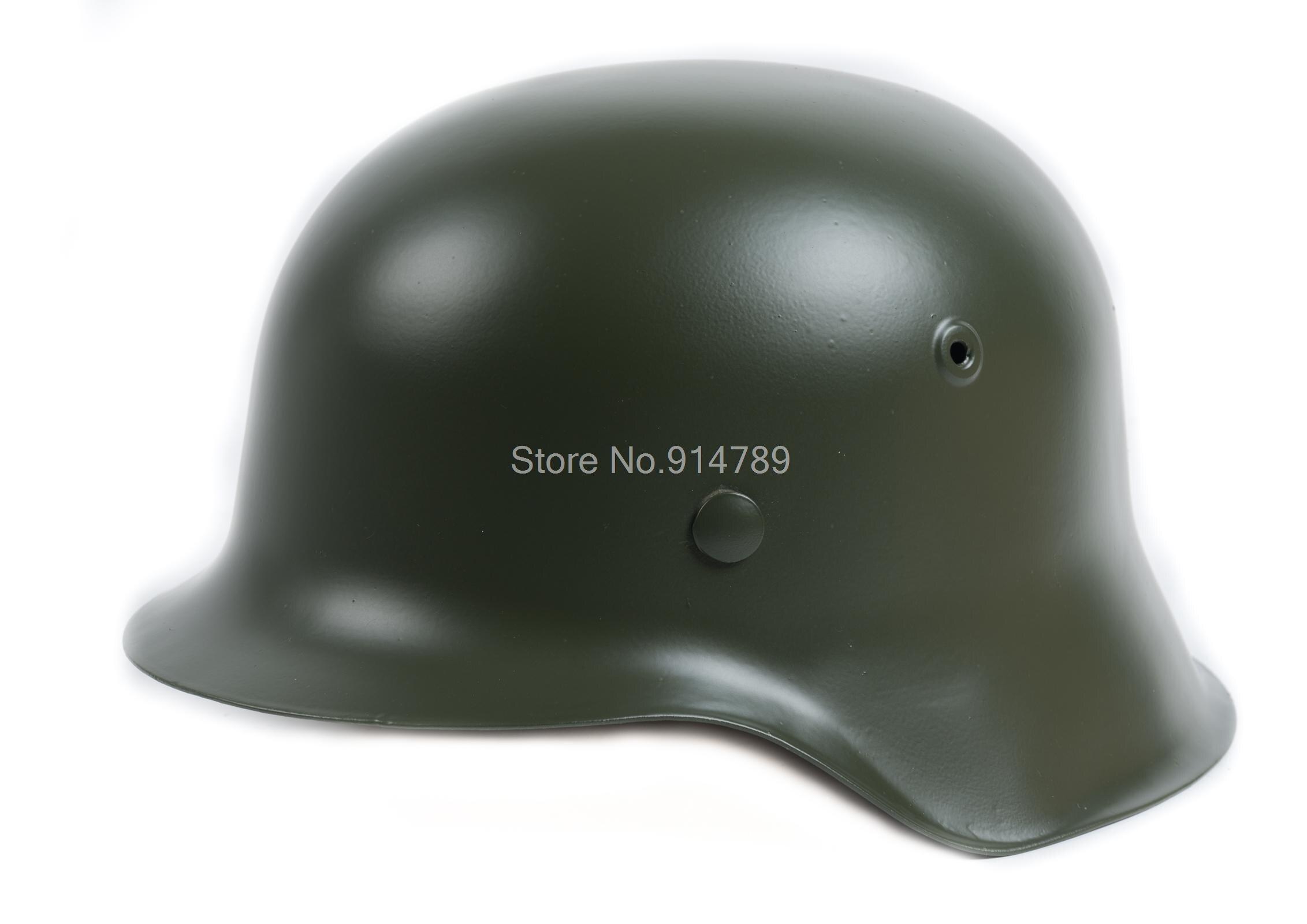 WW2 GERMAN ELITE WH ARMY M42 M1942 STEEL HELMET GREEN -35360