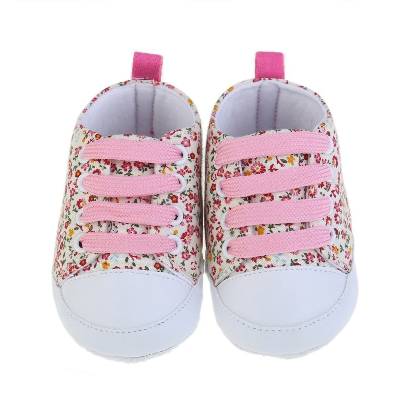 Toddler Unisex Kids Casual Lace Up Sneaker Soft Soled Baby Crib Shoes 0 18M Cute First