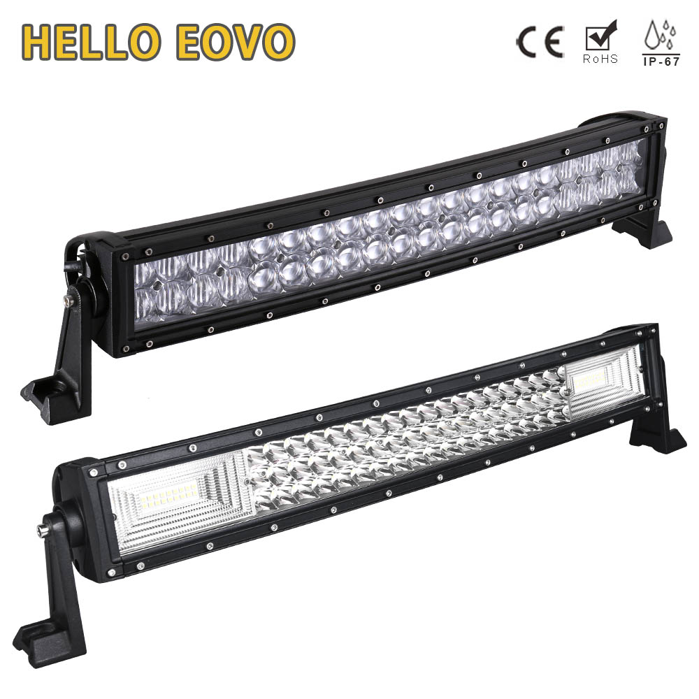 HELLO EOVO 5D 22 inch Curved LED Light Bar for Work Driving Offroad Boat Car Tractor Truck 4x4 SUV ATV 12V 24v hello eovo 22 inch led light bar for off road indicators work driving offroad boat car truck 4x4 suv atv fog combo 12v 24v