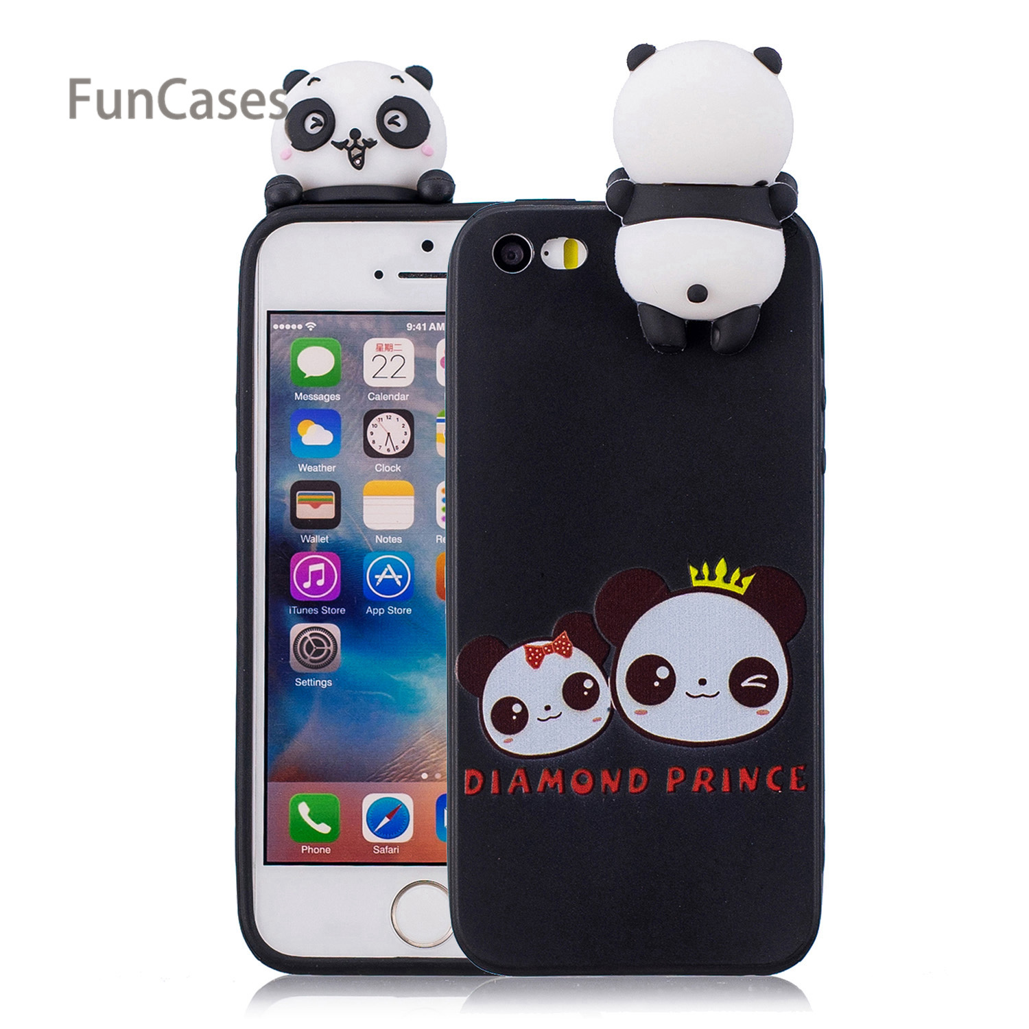 Cute Ice Cream Phone Case sFor Carcasa iPhone 5 Soft TPU Back Cover Cellphone Floral Phone Accessory For iPhone 5S SE 5C Movil winnie the pooh iphone case