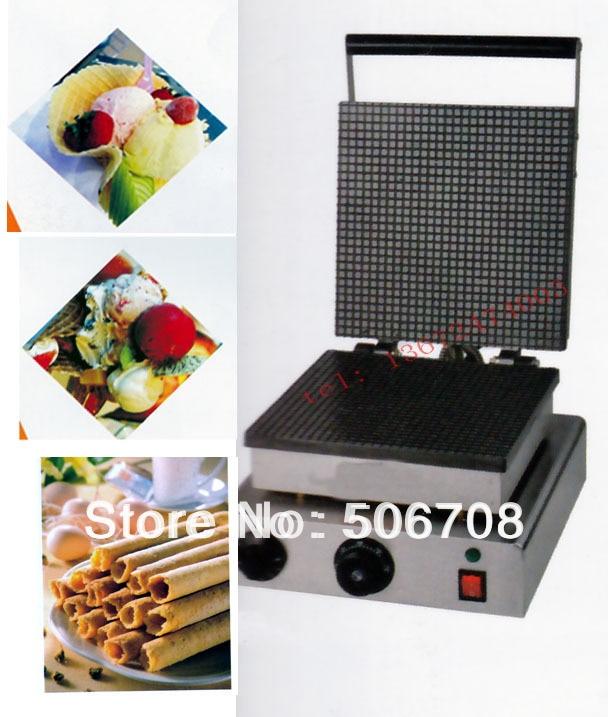 Free shipping~ 220v 110v Square Ice Cream Cone Baker Egg Roll  Maker