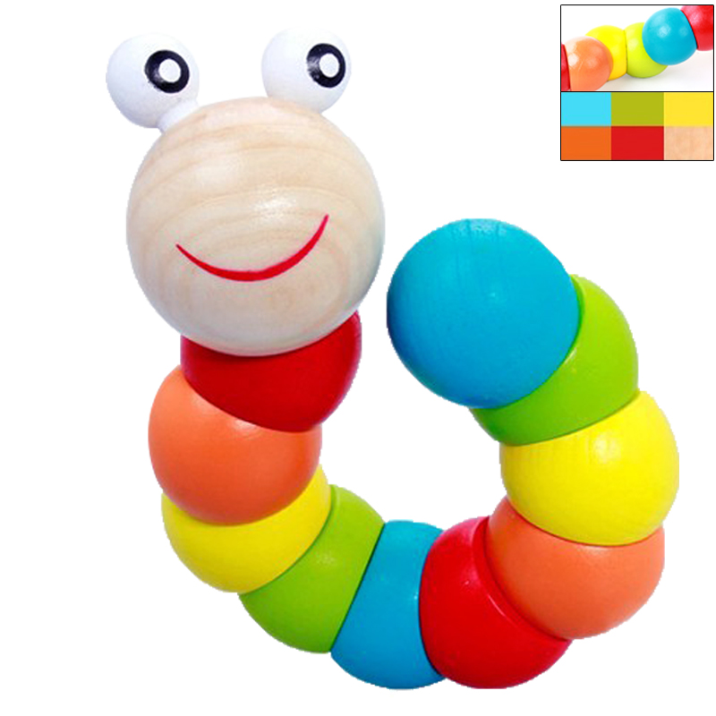 Kids Puzzle Educational Wooden Toys Color Count Fingers