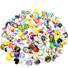Newest 100pcs/lot mix Glass Snap Button Fit bangle 18mm/20mm Buttons DIY Bracelet Jewelry