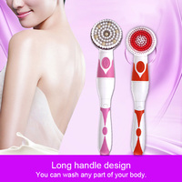 2018 Women Spa Bath Brush Electric Massager Shower Body Cleansing Brushes Kit With 4 Attachments FM88