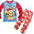 Costum halloween menino Pijamas de Manga longa Definir Crianças Super Heros Pijamas Pomkens Meninas do bebê Vai Natal Conjuntos de pijama