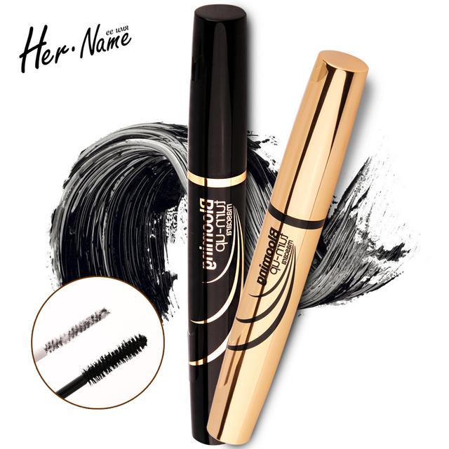 De larga duración curling largo Rimel negro sonriente del Alargamiento Impermeable maquillaje natural Cosmética Curl Extensión de la Pestaña