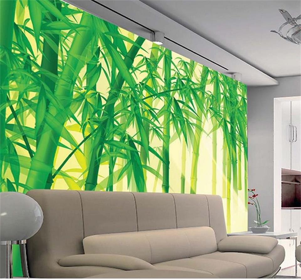 custom 3d photo wallpaper room mural sunshine bamboo forest
