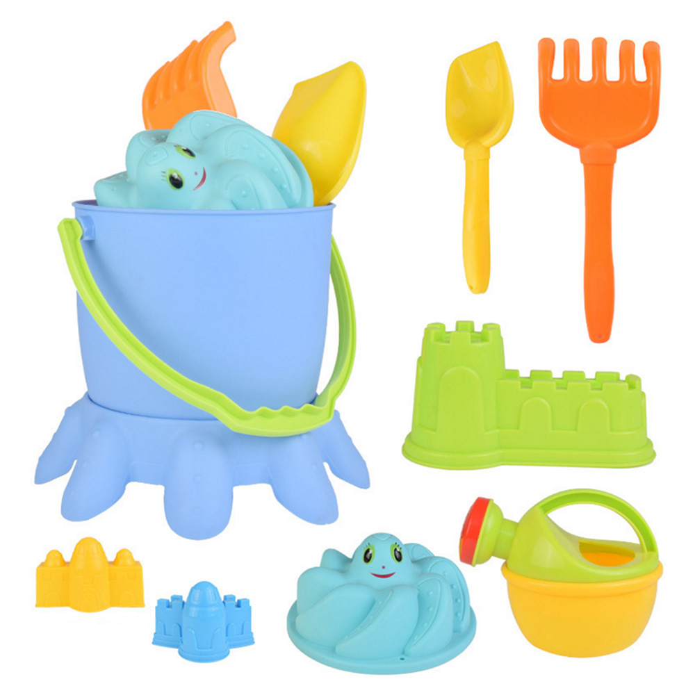 9pcs/set Children Outdoor Childrens Beach Toys Kids Playing in the sand Hourglass Shovel Digging Tools