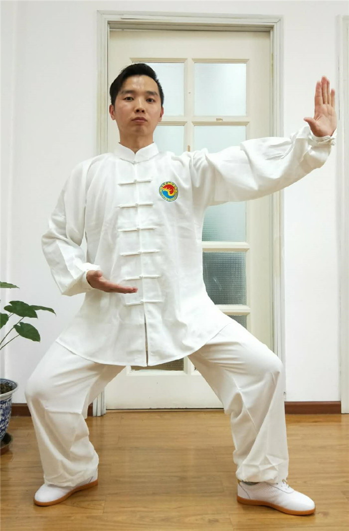 562a61f03 Official Qi Gong uniforms Chinese Health Qigong Association designated Slub  linen fabric long-sleeved fitness