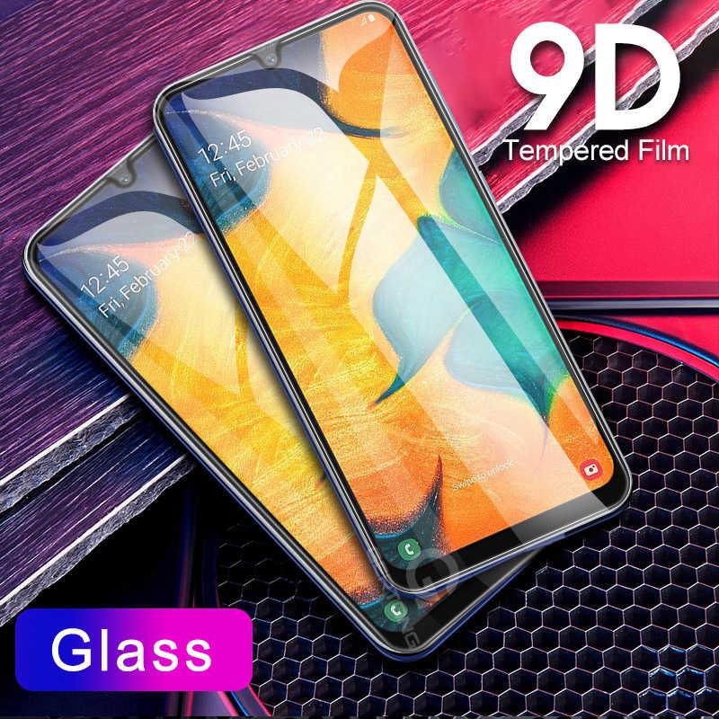9D منحني الزجاج المقسى على لسامسونج غالاكسي A30 A50 A10 واقي للشاشة لسامسونج M10 M20 M30 M40 A40 a60 A70 A80 A90
