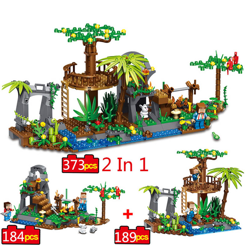 373pcs Minecrafted Village Building Block Toys Compatible Legoe City Minecraft Figures Brick For Children Friends Birthday Gift 2017 hot sale girls city dream house building brick blocks sets gift toys for children compatible with lepine friends