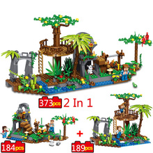 373pcs Minecrafted Village Building Block Toys Compatible Legoe City Minecraft Figures Brick For Children Friends Birthday