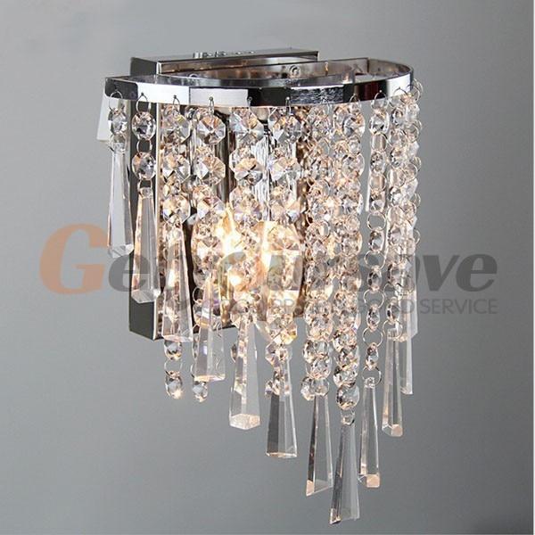 Moderne cristal intérieure applique luminaire contemporain verre
