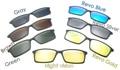 Магнитные Солнцезащитные Очки Клип На с Красочные Revo Поляризованные Линзы Для 5510